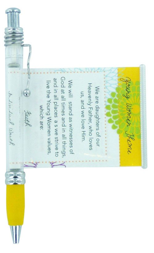 Best Christmas Gifts For Young Women Part - 49: LDS Young Women Theme Scroll Pen. This Pen Has A Scroll That Pulls Out With