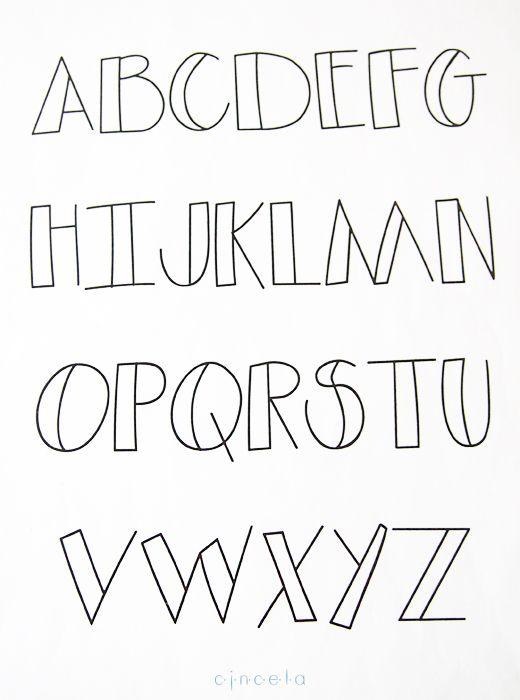 abecedario de letras dibujadas Letras dibujadas, niños y verano