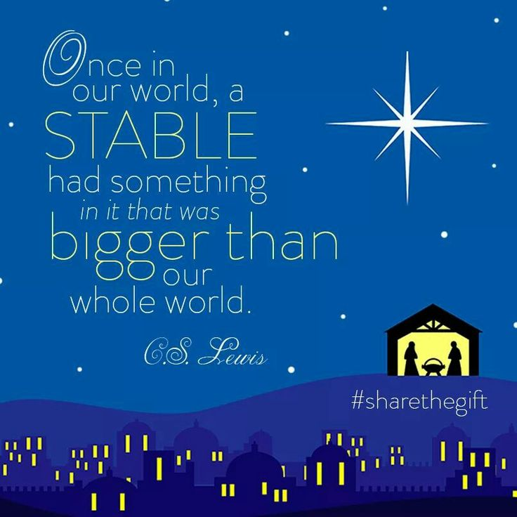 Genial A Great Reminder From C. Lewis About The True Meaning Of Christmas .