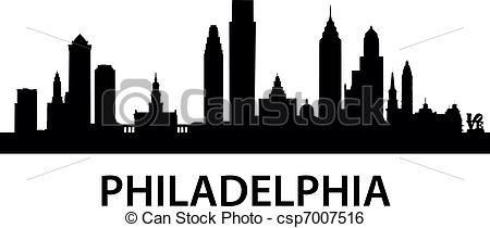 philadelphia skyline outline print - Google Search