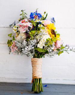 wildflowers, bouquet, wedding,