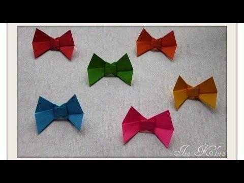 Origami Laço - n Isa Klein - YouTube