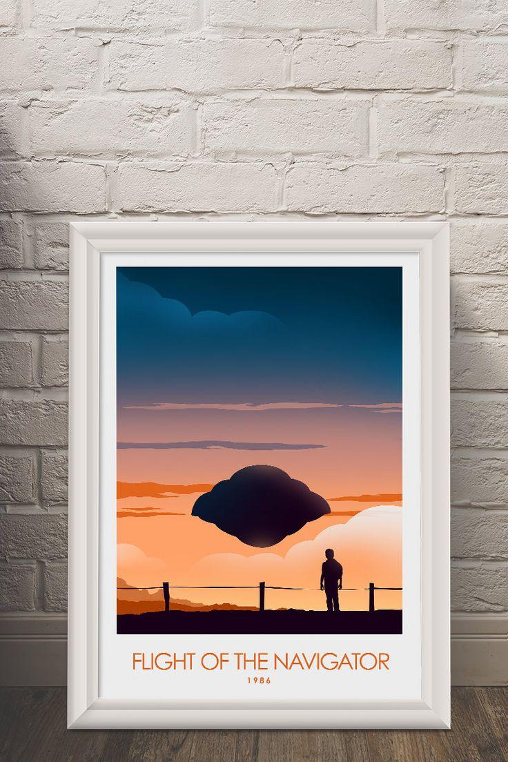 Flight of the Navigator Poster Art Print, Movie Poster, Minimalist Art Print by CiaranMonaghanArt on Etsy