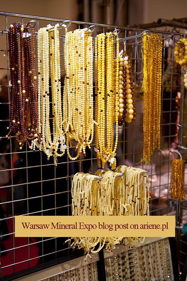 Welcome to read the blog post -  yellow amber bead necklaces at Warsaw Mineral Expo 2016, VI edition event in the Palace of Culture and Science, Polish giełda minerałów i biżuterii w Pałacu Kultury i Nauki w Warszawie, jewelry and crystal stones show.