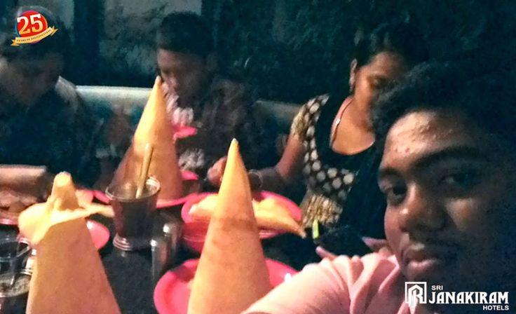Mr. Amalraj Ilango's Family Enjoying dinner in Sri Janakiram Hotels