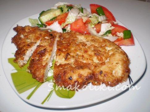 Отбивные из куриного филе в сырном кляре. Пошаговый рецепт с фото на Smakoliki.com