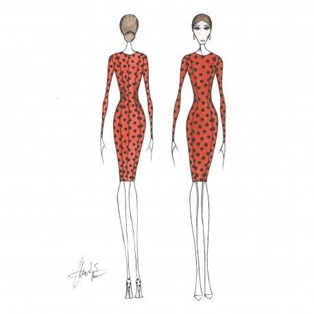 Patrón cuerpo base #moda #flamenca #patrones #volantes #lunares #sketch #dibujo #boceto #pintura #modelo