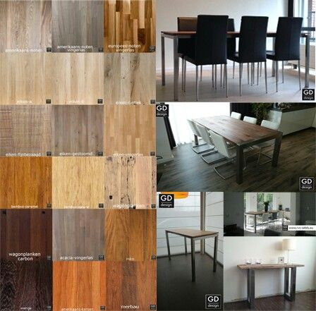 Massief houten tafelbladen/werkbladen, mooi te combineren met onze rvs design frames. Ontdek de mogelijkheden op onze website.  Www.rvs-tafels.eu