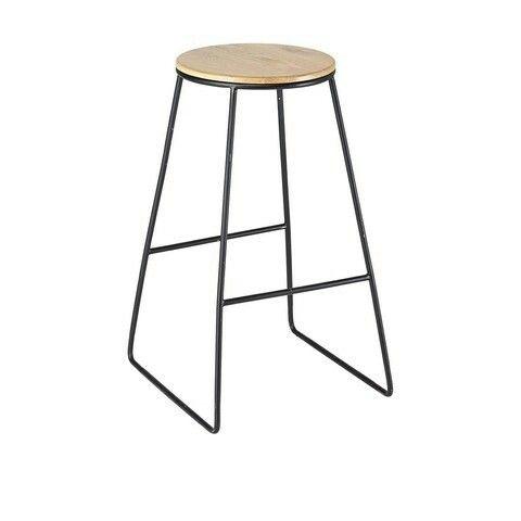 Kmart industrial stool - black