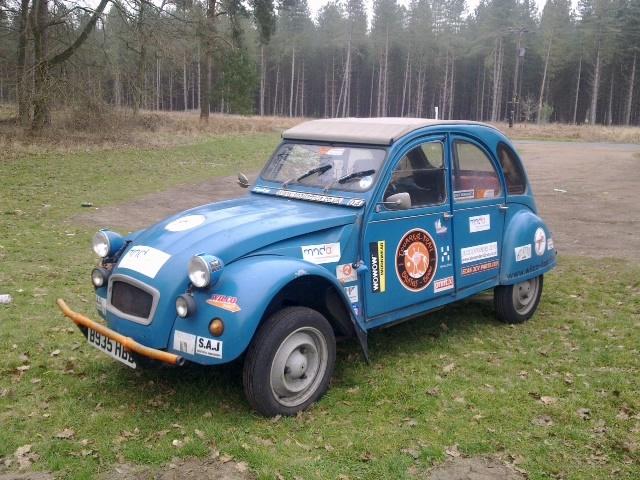 """Citroen 2CV Raid Car """"Cookie"""" My friends Citroen 2CV when I borrowed it for a bit. She went across Africa in it: http://www.snailafrica.co.uk/"""