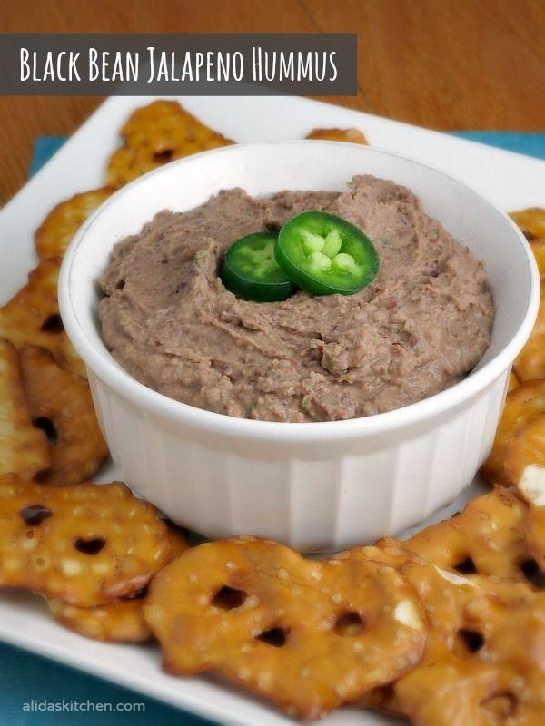 Black Bean Jalapeno Hummus | alidaskitchen.com #recipes #pantryinsiders #ad
