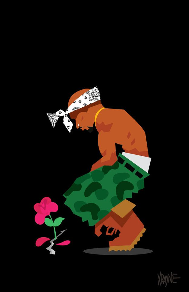 Tupac - The Rose That Grew From Concrete | These Illustrations of '90s Black Pop Culture Are Amazing