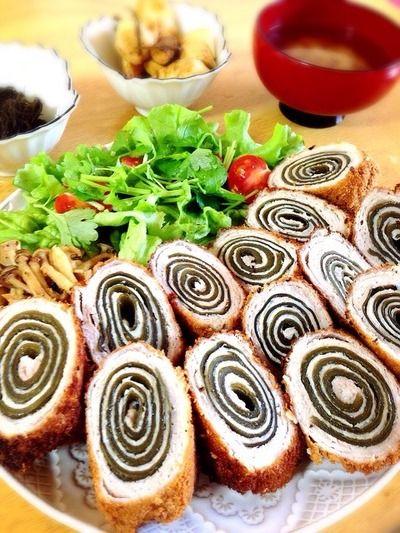 昆布巻きとんかつ。自然薯の浅漬け。 by Misuzuさん | レシピブログ ...