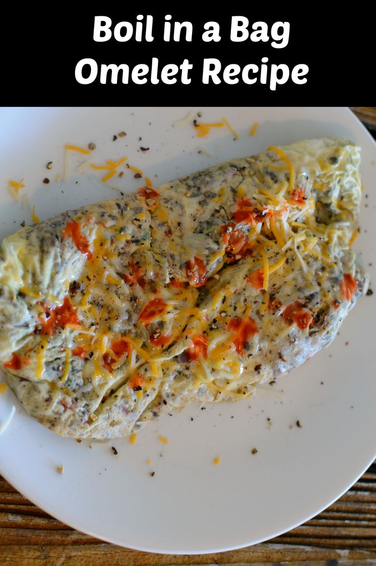 Kitchen Hack: Boil in a Bag Omelet Recipe - http://www.sofabfood.com/boil-in-a-bag-omelet-recipe/ Introducing a new innovative Kitchen Hack: Boil in a Bag Omelet Recipe. The oneand only way to make an omelet during camping season. You will absolutely love this easy trick, with no messy clean up!  Boil in a Bag Omelet Recipe This fun way to make an omelet or scrambled eggs is so easy...