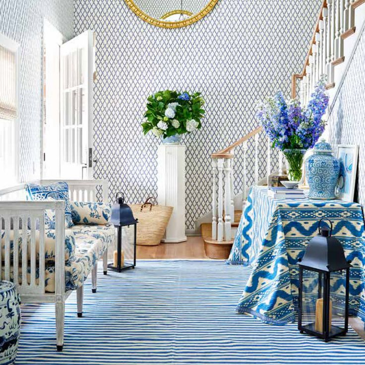 Blue And White Decor 562 best country blue images on pinterest | country blue, homes