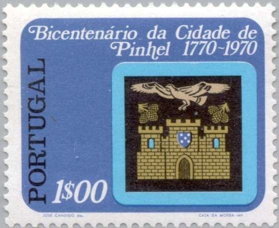 Sello: Coat of arms of Pinhel (Portugal) (Bicentennial City Pinhel) Mi:PT 1160A,Sn:PT 1135,Yt:PT 1144,Afi:PT 1146