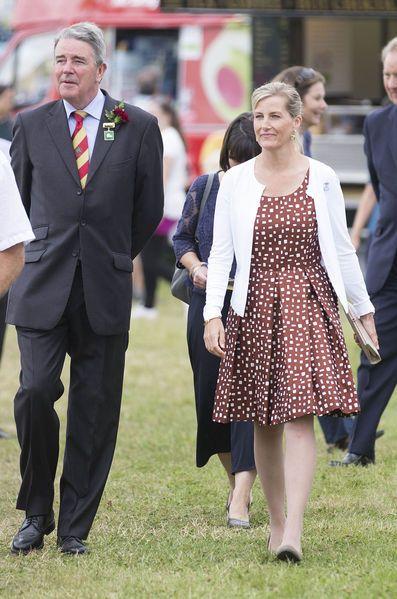 La comtesse Sophie de Wessex au New Forest Show à Brockenhurst, le 26 juillet 2016