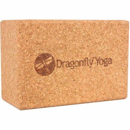 "Dragonfly Yoga Cork, Yoga Block 4"""