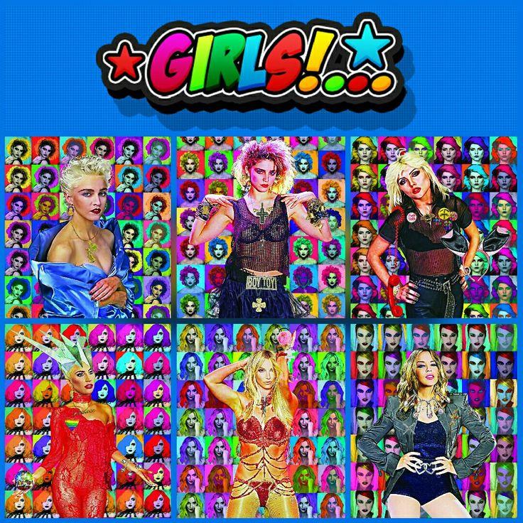 """Girls Collection"" #popart #digitalart #art"