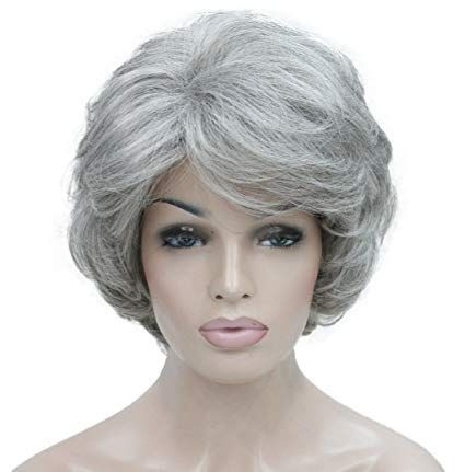 Damen Kurz Gelockt Gewellt Perücke Goldblond mix Blonde Kunsthaar Perücke # 51SILBER GRAU –  – #Kurzhaarfrisuren –  – #Kurzhaarfrisuren –  – #Kurz…