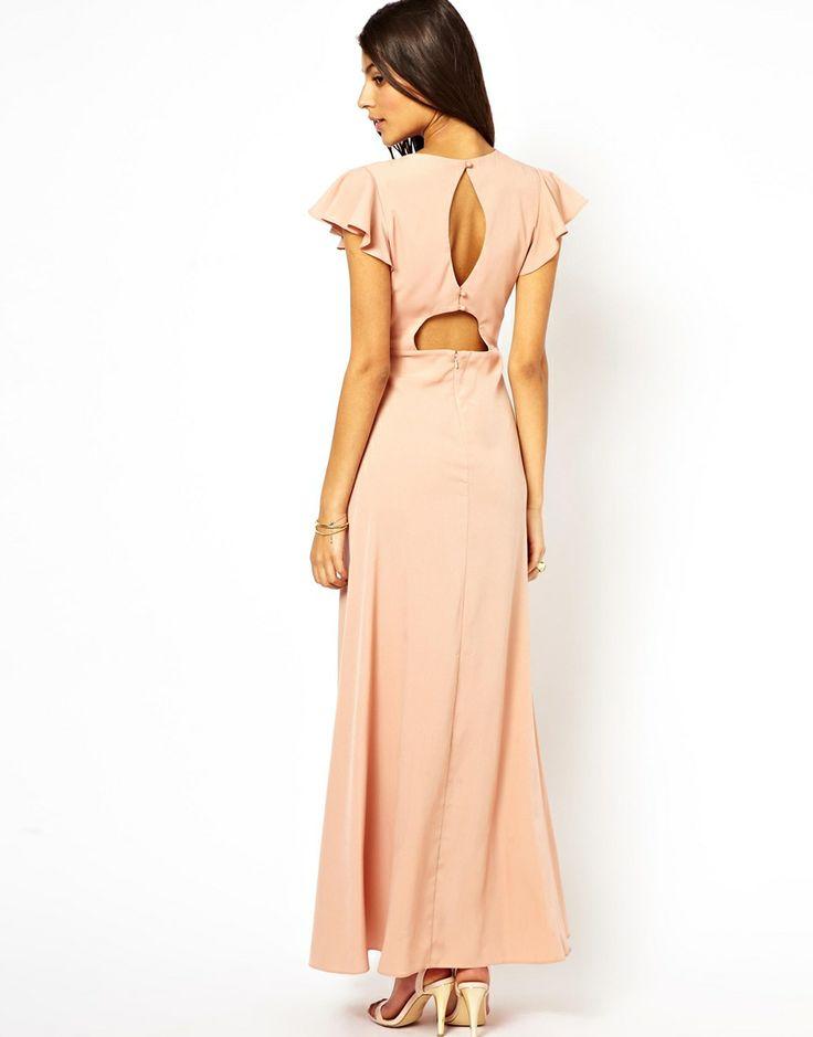 X back maxi dress long sleeve