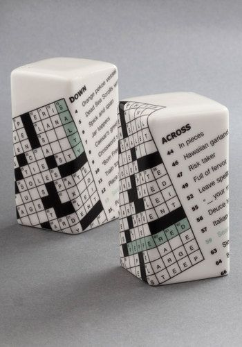 Crossword Puzzle! New York Timeless Shaker Set, $16.99 from modcloth.com.