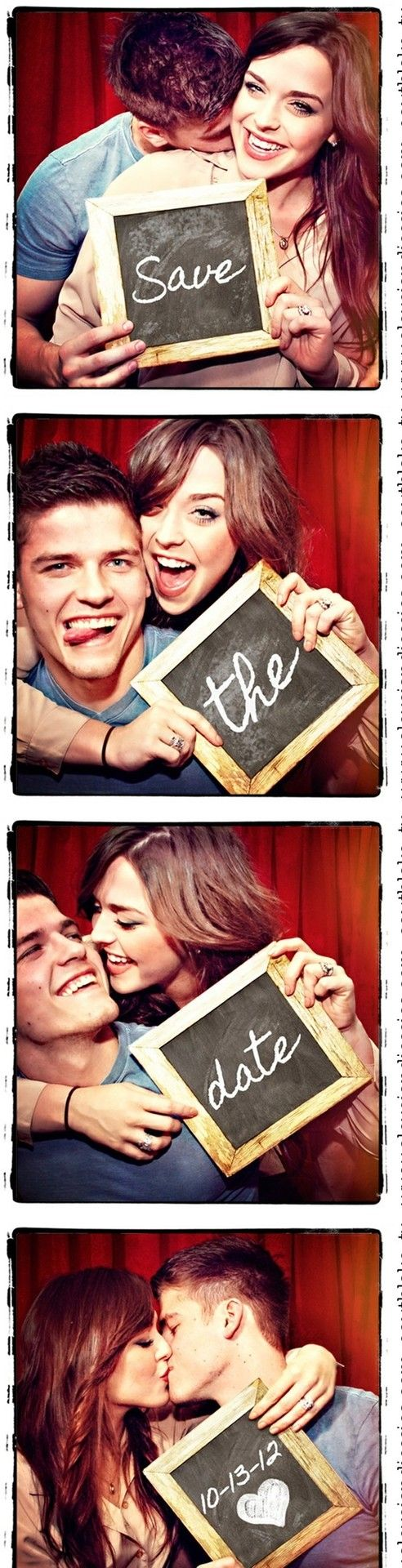 Photo booth announcement: Photos Booths, Save The Date Ideas, Engagement Photos, Dates, Wedding Announcements, Cute Ideas, Photobooth, Photo Booths, Engagement Picture