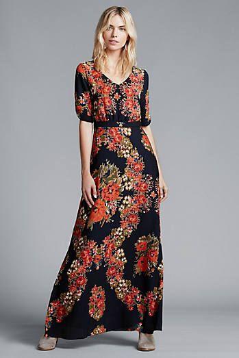 Wreathed Maxi Dress