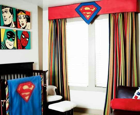 Superman baby room!! So cute