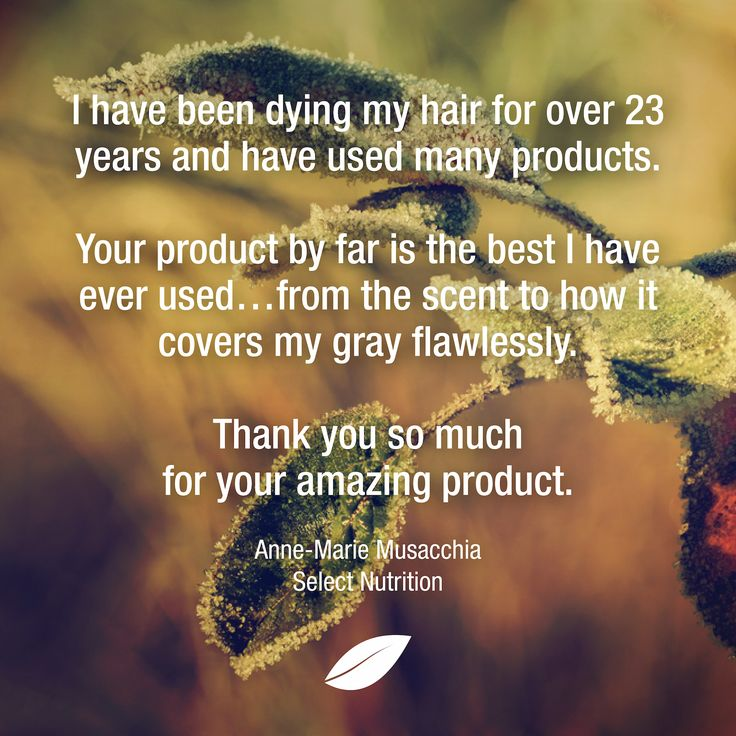 Such a sweet testimonial from Select Nutrition!
