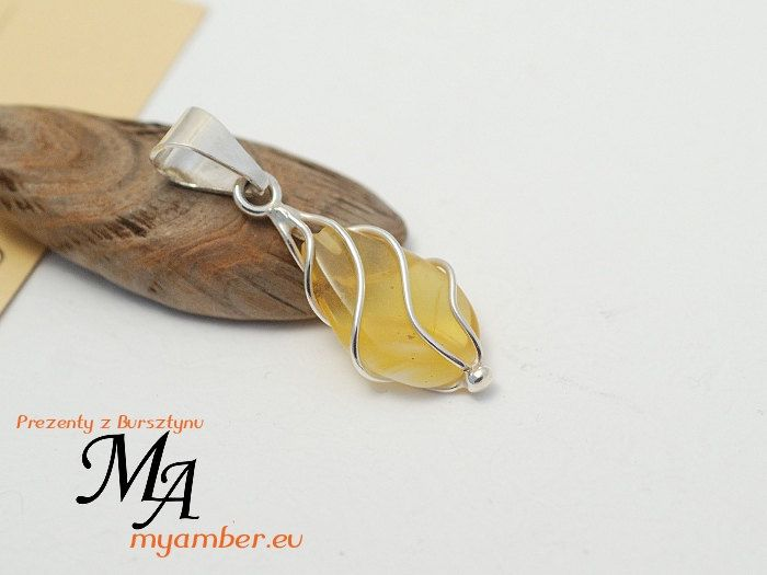 Silver 925 | NATURAL AMBER *10437 +Certificate Pendant by myamberEU on Etsy