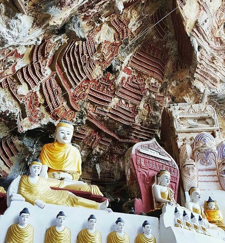 Kaw-goon Cave Hpa an,Myanmar..  Photo: @lovemonicaher    #instatravel #myanmar #travel #travelingasia #holiday #tourism #hidden #destination #touroperator #tourist #attraction #bucketlist #natgeotravel #goodlifemyanmar #mybestvacation