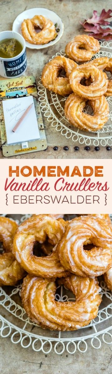 "German Vanilla Glazed Crullers { Eberswalder Spritzkuchen } Visit the collaborative board ""Food bloggers for Volkswagen"" for more inspiring recipes and ideas. https://www.pinterest.co.uk/volkswagen/food-bloggers-for-volkswagen/"
