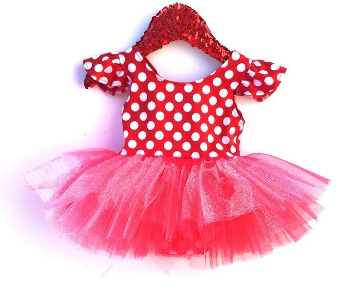 Mouse Polka Dot Playsuit Mouse Red Tutu Costume