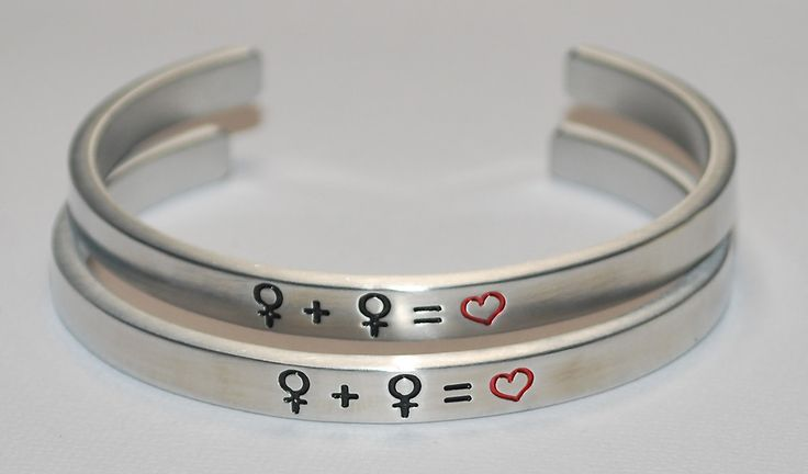 Female Gay Symbols  |  Engraved Handmade Bracelet by: Say It and Wear It Jewelry #love #beautiful #jewelry #bracelets #gay