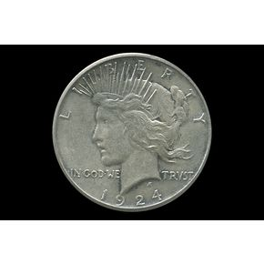 Shop 1924-S $1 Peace Silver Dollar XF+/AU and other jewelry, art, coins, rugs and real estate at www.aantv.com