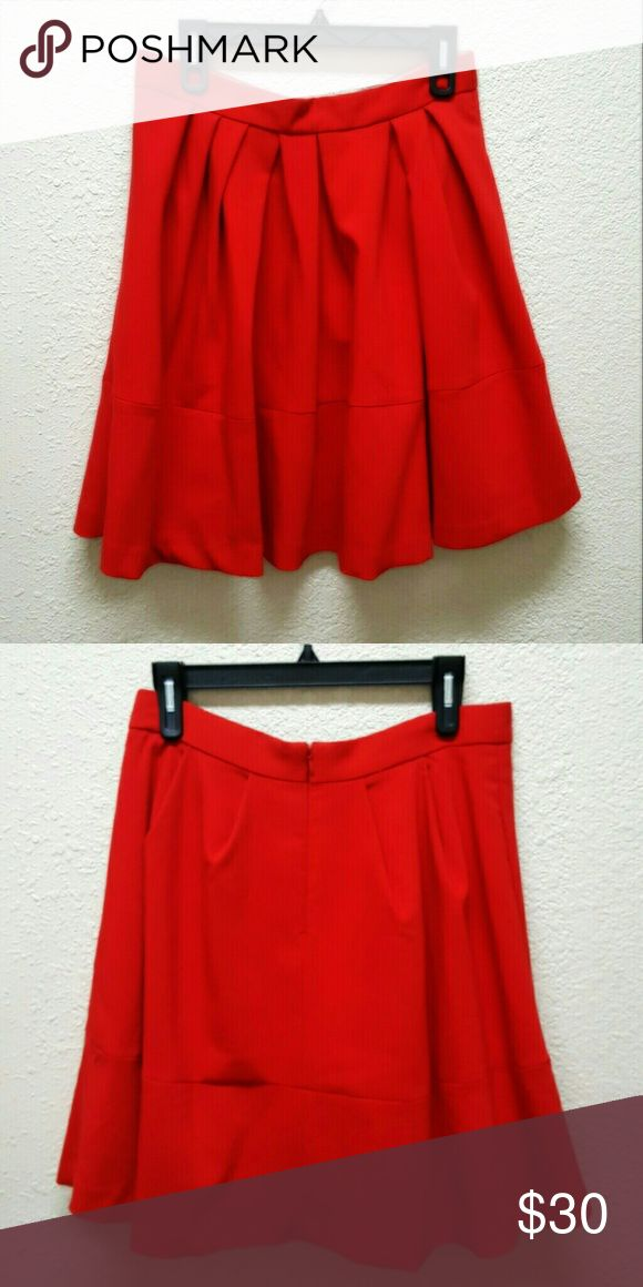 Stunning Banana Republic Red Gorgeous Ruched Skirt Gorgeous preowned red vintage style Banana Republic Ruched skirt. One of a kind. Stunning and heavy, good quality fabric.It also comes lined. Banana Republic Skirts A-Line or Full