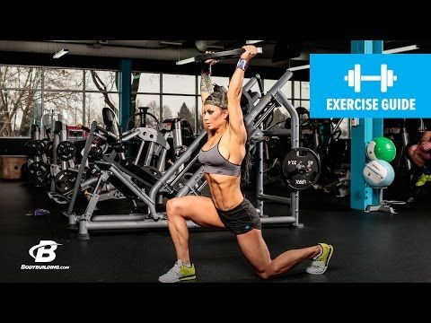 Bodybuilding.com: How To Do A Walking Lunge with Weight Overhead   Exercise Guide