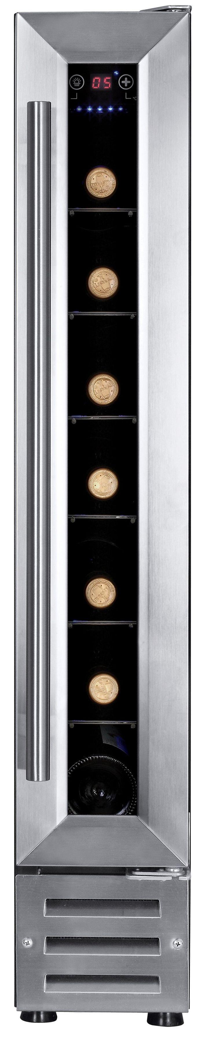Deze Temptech VWC7 wijnklimaatkast kopen voor €459,-? Stijlvolle extra smalle wijnklimaatkast met glazen deur