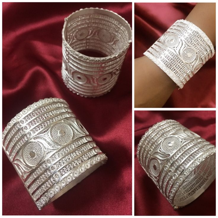 Traditional Silver Filigree Bangles made in Orissa by our artisans at Silver Linings