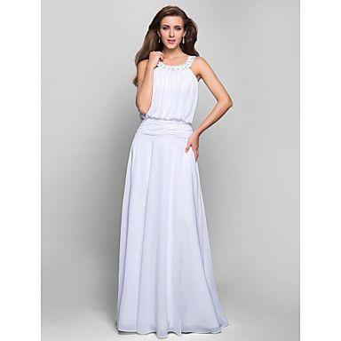 A-line Jewel Floor-length Chiffon Evening/Prom Dress – USD $ 149.99