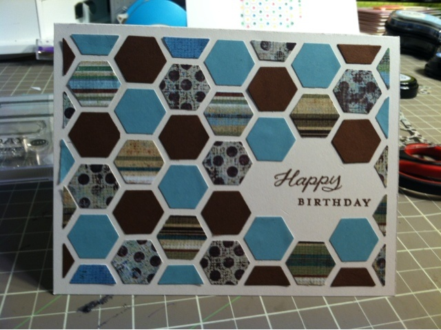 Pigtails and Paper Trails: Happy Hexagons card
