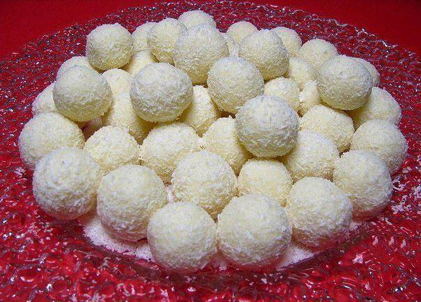 Homemade Raffaello # dessert recipes christmas New Year's Party