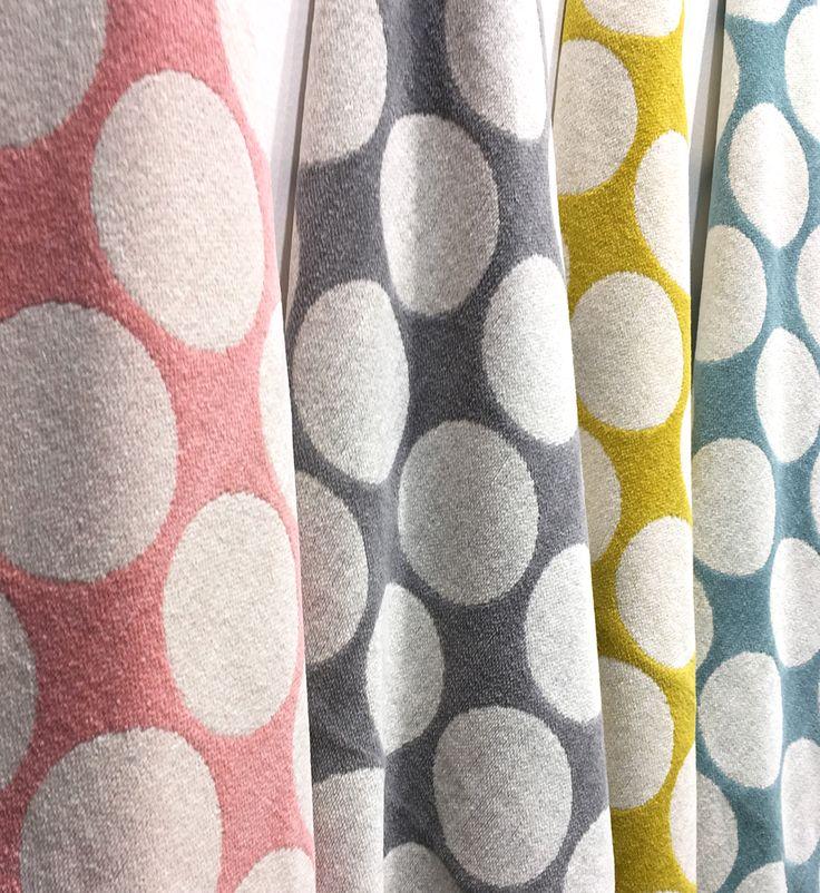FIA blanket, piglet/warm grey/lemon/turquoise, 100 x 140 cm, Pappelina