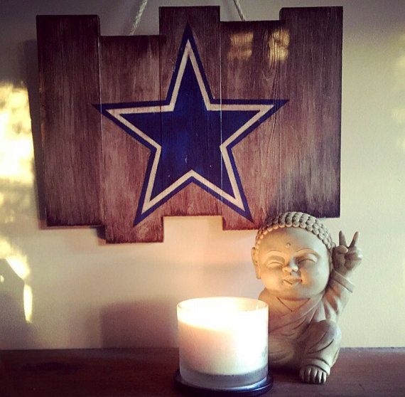 Dallas Cowboys Wooden Stained Flag by DiamondEyesChicago on Etsy  Beautiful Football Decor - Perfect for any Dallas Cowboys Fan!
