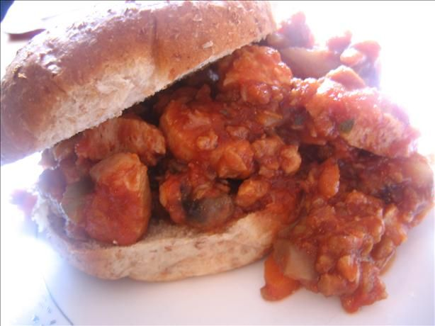 Healthy Sloppy Joes!   This Sloppy Joe recipe is tasty, filling, and packed with veggies! It's a slightly tweaked Cooking Light recipe.