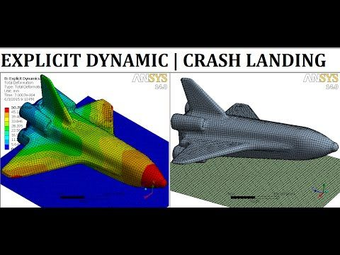 ANSYS Explicit Dynamic Analysis | ANSYS Workbench Impact/Crash Test Tutorial | Shell Element | GRS | - YouTube