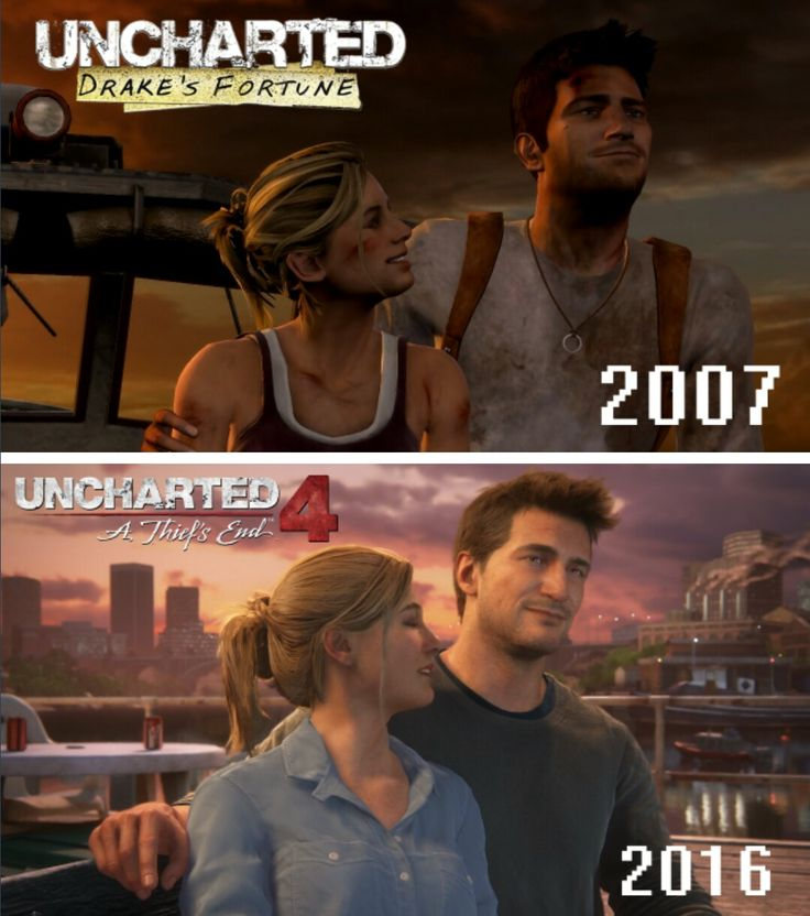 Progress from Uncharted to Uncharted 4 <3