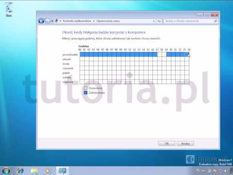 ▶ Windows 7 - Kontrola rodzicielska - YouTube
