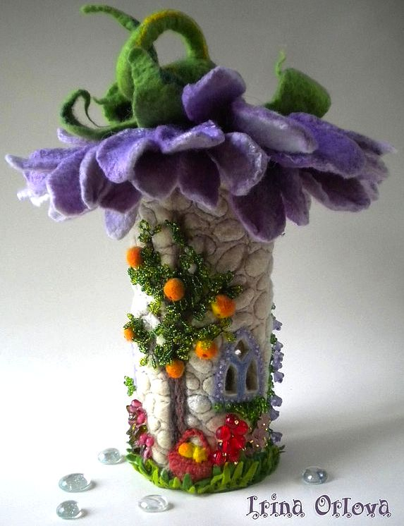 35 best My Fairy Нouses images on Pinterest   Fairy homes, Felt ...